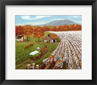 Cotton Field and Baker's Mtn Fine Art Print