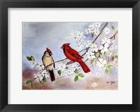 Cardinals and Dogwood Fine Art Print
