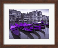 Purple Gondolas 1 Fine Art Print