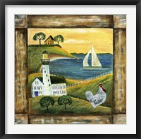 Peace On Earth Country Chicken Rooster Square Fine Art Print