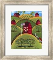 Red Apple Quilt Barns Fine Art Print