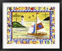 Sailboat Sunset Alphabet Beach Fine Art Print