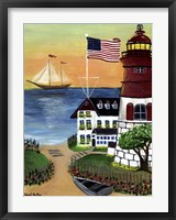 Sunset Lighthouse Fine Art Print