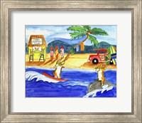 Corgi Surfers Club Fine Art Print