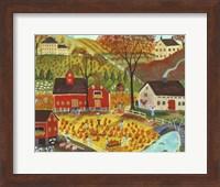 Country Farm Pumpkin Pickers Fine Art Print