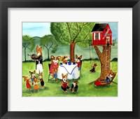 Corgi Dog Tea Party Fine Art Print