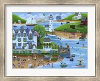 Folk Art Summertime Fun at Seaport Inn Fine Art Print