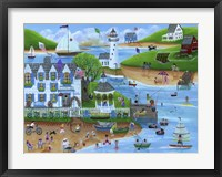 Folk Art Summertime Fun at Seaport Inn Fine Art Print
