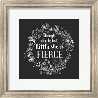 Though She Be But Little - Wreath Doodle Gray Fine Art Print