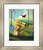 Bot and the Butterflies Fine Art Print