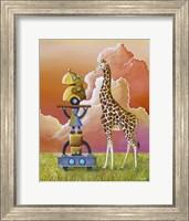 Robots On Safari Fine Art Print