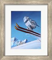 The Downhill Race Fine Art Print