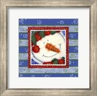 Scarf Snowman 1 Fine Art Print