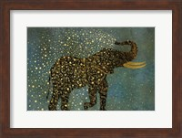 Gold Spraying Elephant Fine Art Print