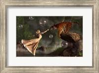 Surreal Tiger Bubble Water Dancer Fine Art Print