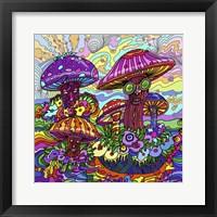 Pop Art - Mushrooms Fine Art Print