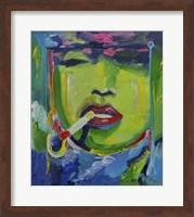 Madonna Smoking Fine Art Print