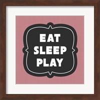 Eat Sleep Play Football - Pink Part II Fine Art Print