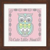 Cute Little Hoot Girl Fine Art Print