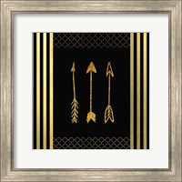 Black & Gold - Feathered Fashion Arrow Fine Art Print