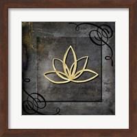 Grunge Gold Crown Lotus Fine Art Print