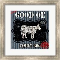 Good Ol' Family BBQ Square Cow Fine Art Print