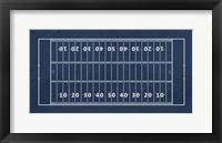 American Football Field Blue Fine Art Print