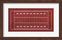 American Football Field Red Fine Art Print