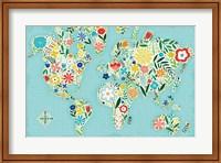 Floral World Blue Fine Art Print