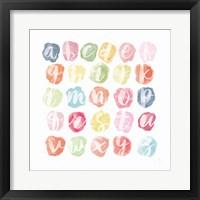 Watercolor Alphabet Fine Art Print