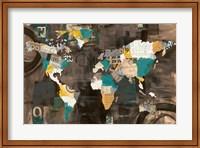 Golden World on Brown Fine Art Print