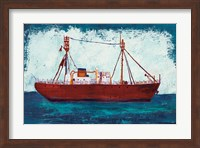 Nantucket Lightship Navy no Words Fine Art Print