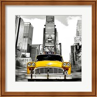 Vintage Taxi in Times Square, NYC (detail) Fine Art Print