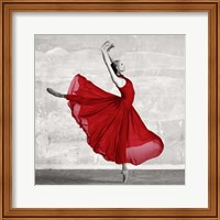 Ballerina in Red (detail) Fine Art Print