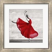 Ballerina in Red (detail) Fine Art Print