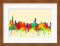 Chicago Illinois Skyline-SG Fine Art Print