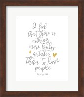 Van Gogh Love People Quote Fine Art Print