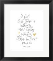 Van Gogh Love People Quote Fine Art Print