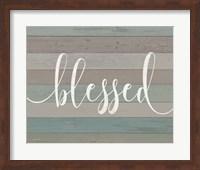 Rustic Blessed Script Fine Art Print