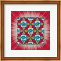 Lotus Tile Colored Fine Art Print