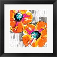 Orange Grey Poppies Fine Art Print