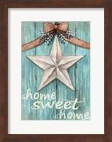 White Barn Star with Bow Home White Fine Art Print