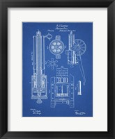 Machine Gun Patent - Blueprint Fine Art Print