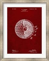 Golf Ball Patent - Burgundy Fine Art Print