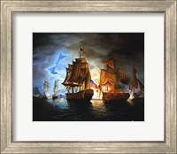 Bonhomme Richard And Serapis Battle Fine Art Print