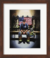 Praying Firefighter Fine Art Print