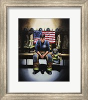 Praying Firefighter Fine Art Print