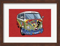 Sixties VW Hippy Van Fine Art Print