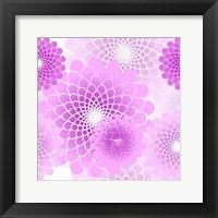 Spiral Flowers Pattern Pink Fine Art Print