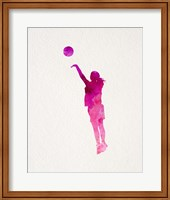Basketball Girl Watercolor Silhouette Part IV Fine Art Print